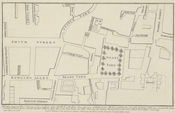 [A plan of Dean's Yard and parts adjacent, as it appeared in 1734]